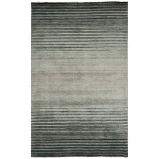 Safavieh Hand-knotted Tibetan Blue Wool Rug (5' x 8')