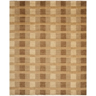 Safavieh Hand-knotted Tibetan Brown Wool Rug (8' x 10')