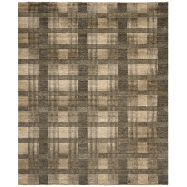 Safavieh Hand-knotted Tibetan Charcoal Wool Rug - 9' x 12'