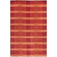Safavieh Hand-knotted Tibetan Red Wool Rug - 4' x 6'