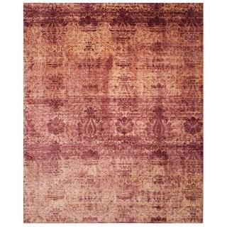 Safavieh Hand-knotted Tibetan Red Geometric Wool Rug (6' x 9')