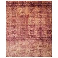 Safavieh Hand-knotted Tibetan Red Geometric Wool Rug - 6' x 9'
