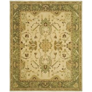 Hand Tufted Mahal Ivory Wool Rug 8 X 10 14321796