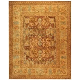 Safavieh Hand-made Taj Mahal Light Brown/ Beige Wool Rug (9' x 12')