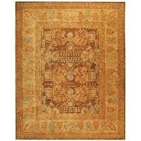 Safavieh Hand-made Taj Mahal Light Brown/ Beige Wool Rug - 9' x 12'