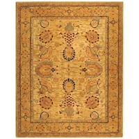 Safavieh Handmade Taj Mahal Ivory/ Taupe Wool Rug - 9' x 12'