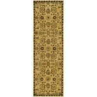 "Safavieh Hand-made Taj Mahal Taupe Wool Rug - 2'6"" x 12'"