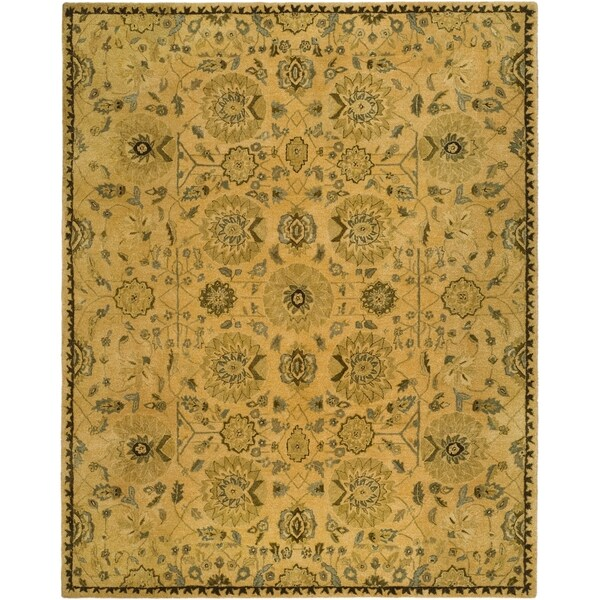 Safavieh Hand-made Taj Mahal Taupe Wool Rug (8' x 10')