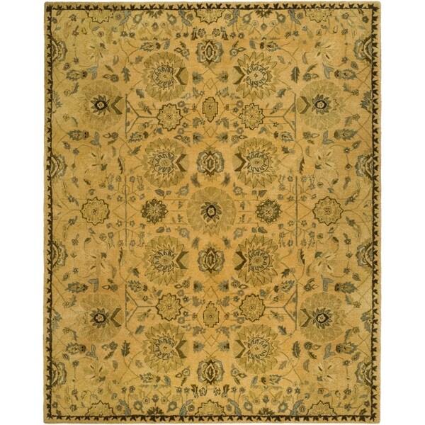 Safavieh Hand-made Taj Mahal Taupe Wool Rug - 9' x 12'
