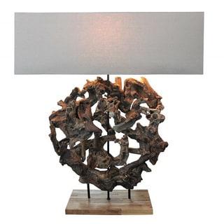 Natura Organic Round 1-light Table Lamp