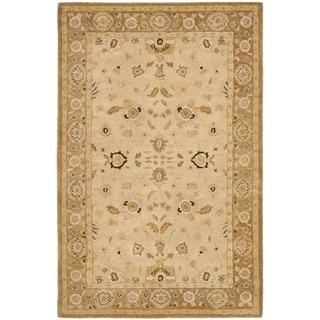 Safavieh Hand-made Taj Mahal Ivory/ Gold Wool Rug (9' x 12')