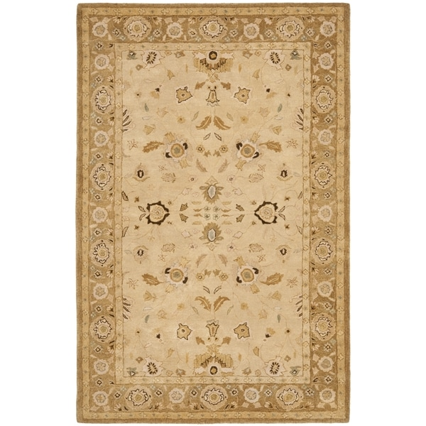 Safavieh Hand-made Taj Mahal Ivory/ Gold Wool Rug - 9' x 12'