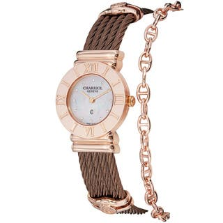 Charriol Women's 'St Tropez' Diamond Dial Bronze Steel Quartz Watch|https://ak1.ostkcdn.com/images/products/8292575/Charriol-Womens-St-Tropez-Diamond-Dial-Bronze-Steel-Quartz-Watch-P15611614.jpg?impolicy=medium