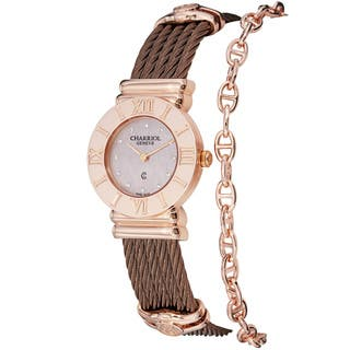 Charriol Women's 'St Tropez' Pink Diamond Dial Bronze Steel Watch|https://ak1.ostkcdn.com/images/products/8292577/Charriol-Womens-St-Tropez-Pink-Diamond-Dial-Bronze-Steel-Watch-P15611615.jpg?impolicy=medium