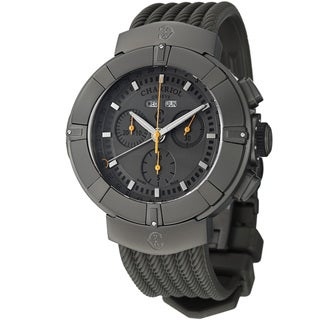 Charriol Men's C44GM.174.004 'Celtica' Grey Dial Grey Rubber Strap Chrono Watch