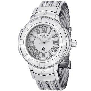 Charriol Women's 'Celtic' White Dial Stainless Steel Quartz Watch