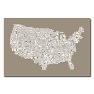 Michael Tompsett 'US City Map XIV' Canvas Art