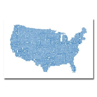 Michael Tompsett 'US City Map XVI' Canvas Art