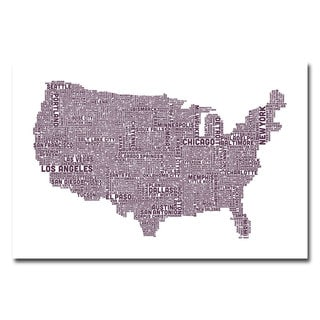 Michael Tompsett 'US City Map XVII' Canvas Art