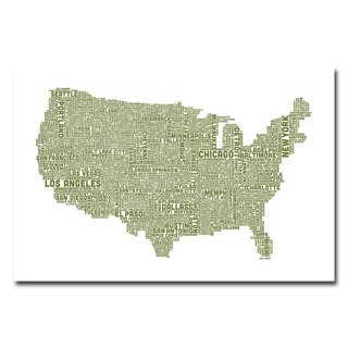 Michael Tompsett 'US City Map XVIII' Canvas Art