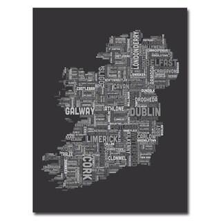 Michael Tompsett 'Ireland City Map V' Canvas Art