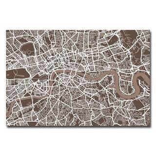 Michael Tompsett 'London Street Map II' Canvas Art
