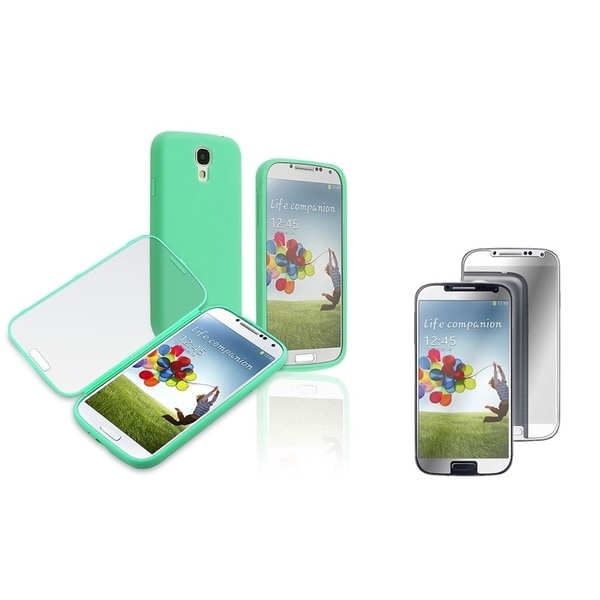INSTEN Book-Style Phone Case Cover/ LCD Protector for Samsung Galaxy S4/ S IV