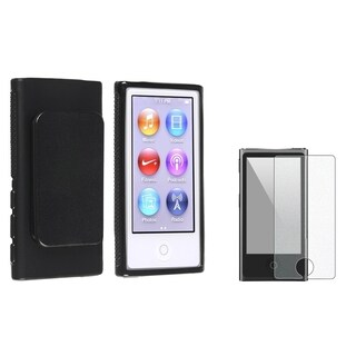 INSTEN Black iPod Case Cover/ Diamond Screen Protector Apple iPod Nano 7
