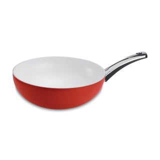 Pearl Enamel Wok Red Apple