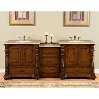 double sink vanity tops for bathrooms. Silkroad Exclusive 92 Inch Travertine Stone Top Bathroom Double Sink Vanity Size Vanities  Cabinets For Less