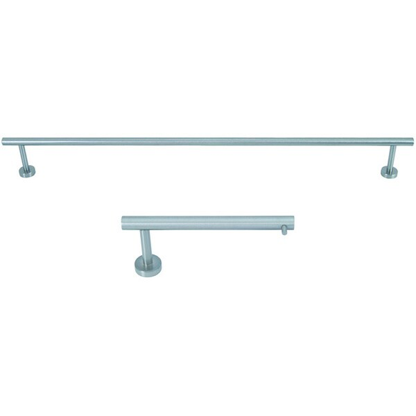 Linea Brushed Nickel 2 Piece Bathroom Accessory Set Free