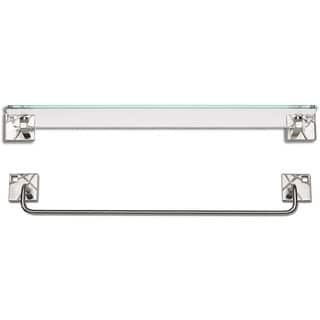 Modernist Brushed Nickel 2-piece Bathroom Accessory Set