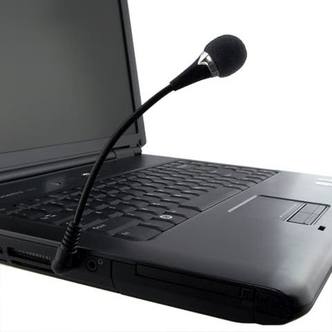 INSTEN Black Universal Mini Flexible Microphone for PC Laptop Notebook (Pack of 2)