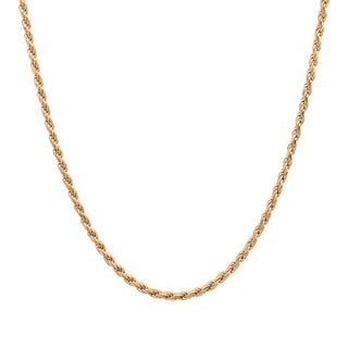 Sterling Essentials 14k Gold over Silver Diamond-cut Rope Chain (1.5 mm)