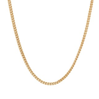 Sterling Essentials 14k Gold over Silver 2 mm Curb Chain (16-24 Inch)