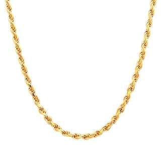 Sterling Essentials 14k Gold over Silver Diamond-cut Rope Chain (2.25mm) - Yellow|https://ak1.ostkcdn.com/images/products/8296740/8296740/Sterling-Essentials-14k-Gold-over-Silver-Diamond-cut-Rope-Chain-2.25mm-P15614946.jpg?impolicy=medium
