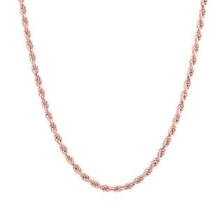Sterling Essentials 14k Rose Gold over Silver Diamond-cut Rope Chain (1.8mm)|https://ak1.ostkcdn.com/images/products/8296742/8296742/Sterling-Essentials-14k-Rose-Gold-over-Silver-Diamond-cut-Rope-Chain-1.8mm-P15614948.jpg?impolicy=medium