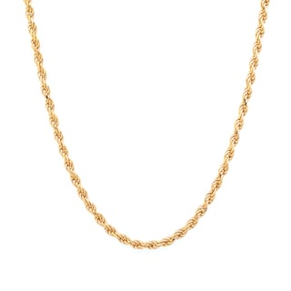 Sterling Essentials 14k Gold over Silver Diamond-cut Rope Chain (1.8 mm)