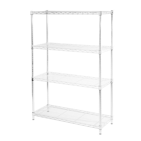 Seville Classics 4-shelf UltraZinc Steel Wire Shelving System