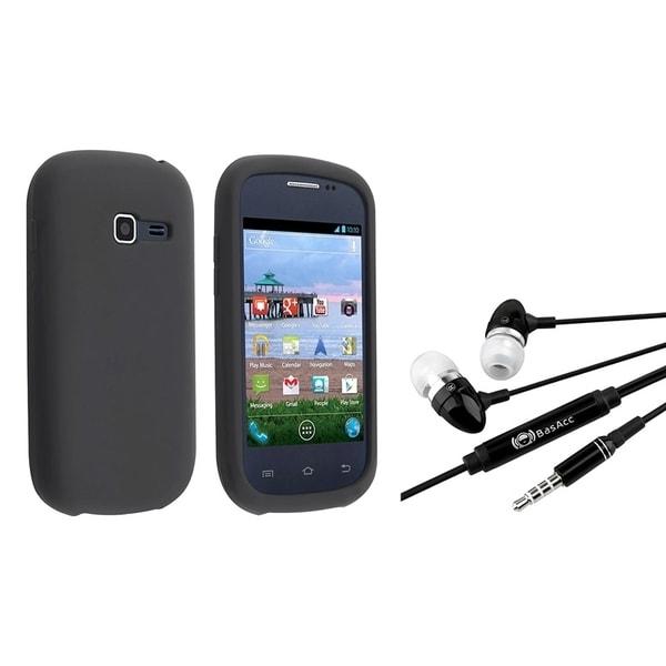 INSTEN Black Phone Case Cover/ Headset with Mic Samsung Galaxy Centura S738C