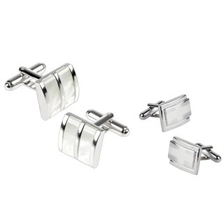 Zodaca Silvertone Cufflink Set (Pack of 2)