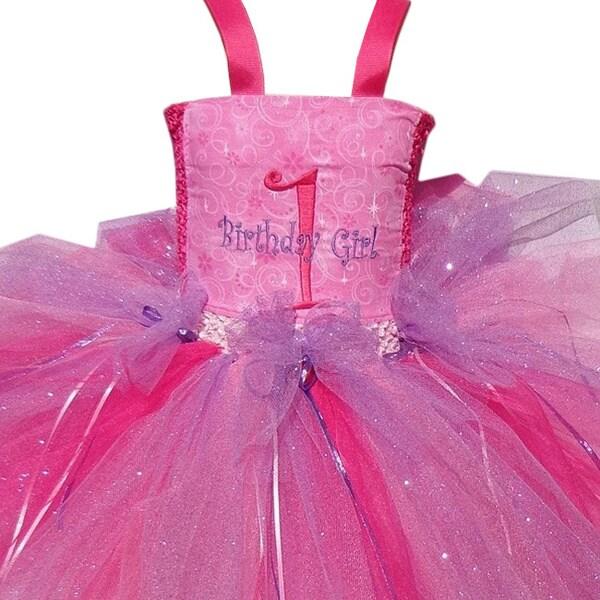 1st Birthday Embroidered Tutu Dress Set