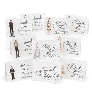 Wedding Bridal Party Thank You Card Set