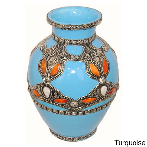 Ceramic Sahara Vase  , Handmade in Morocco