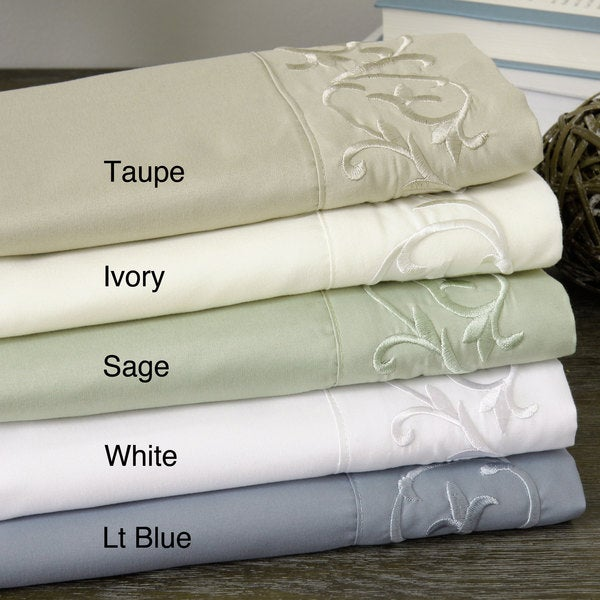 Verona Scroll Embellished Sheet Set