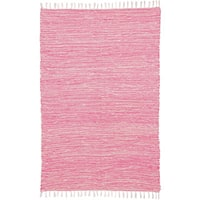 Pink Reversible Chenille Flat Weave Area Rug (4' x 6')