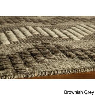 Sorrel Chevron Grey Reversible Indoor Hand Woven Wool Rug (9' x 12')