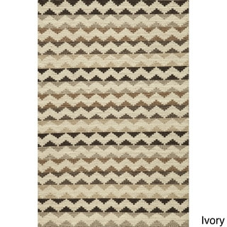 Sorrel Chevron Grey Reversible Indoor Hand Woven Wool Rug (9' x 12')