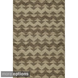 Momeni Mesa Grey Hand-Woven Wool Reversible Rug - 9' x 12'