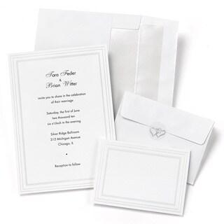 Triple Pearl Border Foil Invitation Kit